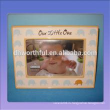 Декоративная милая керамическая фоторамка для детей со слоновой узором