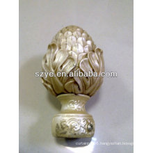 Natural beauty square curtain rod & finial for African sale