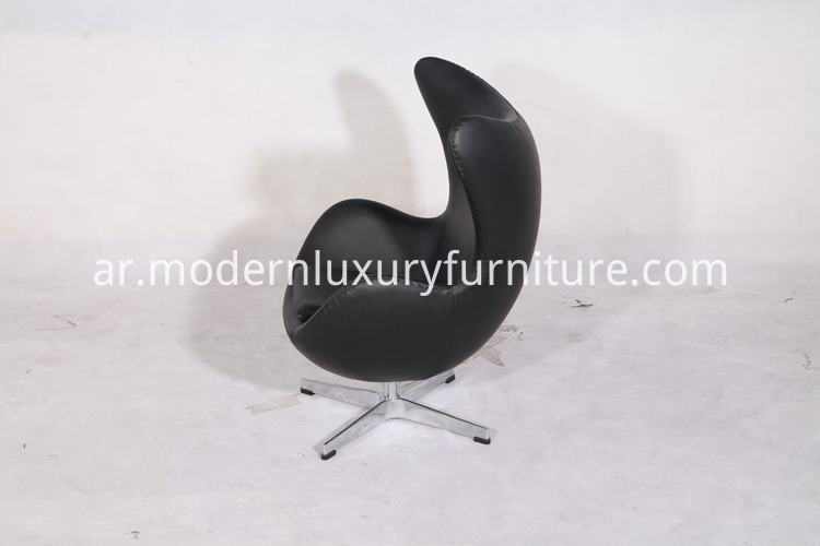 egg chair in leather