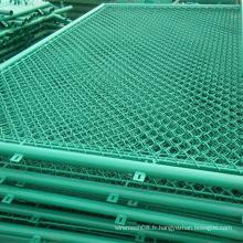 Clôture enduite de grillage de maillon de chaîne de PVC dans la couleur verte