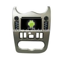 Vier Kern! Androide 4.4 / 5.1 Auto-DVD für LOGAN mit 6.2 Zoll kapazitivem Schirm / GPS / Spiegel-Verbindung / DVR / TPMS / OBD2 / WIFI / 4G