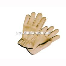 Cow Grain Leather Ungefüttert Driver Work Glove-9001