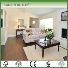 Favorable price walnut color laminate wooden flooring