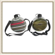 Plástico redondo agua cantina, cantina de plástico redonda desierto (CL2C-KP400)
