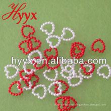 Оптовые свободные DIY акриловые/ABS пластик в форме сердца жемчуг ювелирные украшения