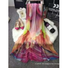 Neue 2016 Qualitäts-gedruckter Silk Frühlings-Schal-Großverkauf
