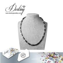 Destino joias cristais de Swarovski colar pingente de cerâmica