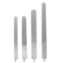Professional Double Side Stainless Steel Reusable  Manicure Nail Metal File