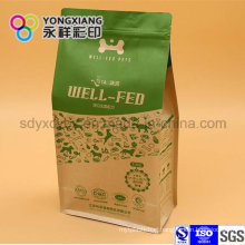 Laminated Paper Quad Bottom of Packaging Bag for Pet Food