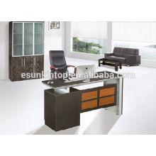 Cheap dark wood furniture Oak MFC office furniture desk