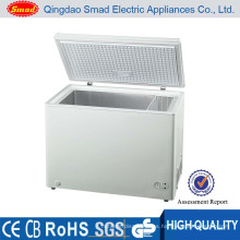 Tapa sólida puerta abierta congelador de arcón al aire libre capacidad grande congelador