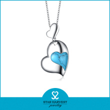 Collar de la joyería del encanto del encanto de la forma del corazón (N-0181)
