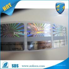 Etiqueta anti-contrafacção / holograma personalizado / raspar o rolo da etiqueta