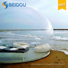 Camping al aire libre iglú inflable tienda transparente inflable transparente burbuja tienda