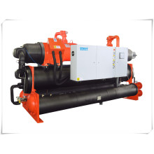 210kw Industrial Double Compressors Water Cooled Screw Chiller for Chemical Reaction Kettle Cooling