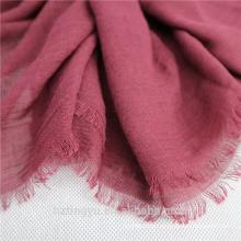 Fashion plain Top selling 180*90 cm cotton linen tassels muslim women hijab scarf shawl