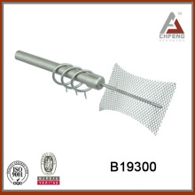 B19300 cheap fancy 19mm diameter hollow metal curtain rods, painted iron double curtain rod set