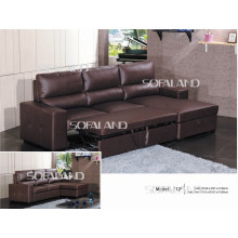 Furniture Extended Leather Sofa Bed (712#)