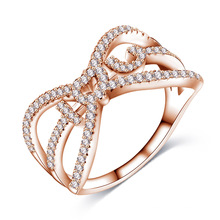 18k Rose Gold Letter I Love You Engagement Jewelry Ring (CRI1024)