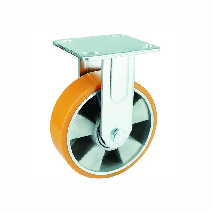 Heavy duty PU on aluminum rigid casters