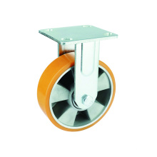 PU robuste sur roulettes rigides en aluminium
