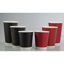 Einmaliges heißes trinkendes kundenspezifisches Logo-Kräuselungs-Wand-Papier-Kaffeetasse