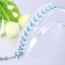 Pulseras populares fantasía azul pulsera para regalo de navidad