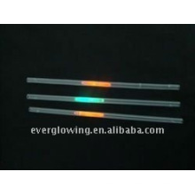 glowing plastic straw