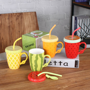 Pineapple/watermelon/strawberry/orange coffee mug