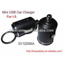 5V1200MA cargador del coche del usb de 34m m mini para iPhone4 / 4S / 5