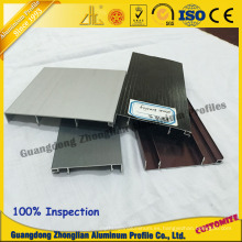 Perfil de aluminio anodizado de los colores para el perfil del armario de Porfile de los muebles