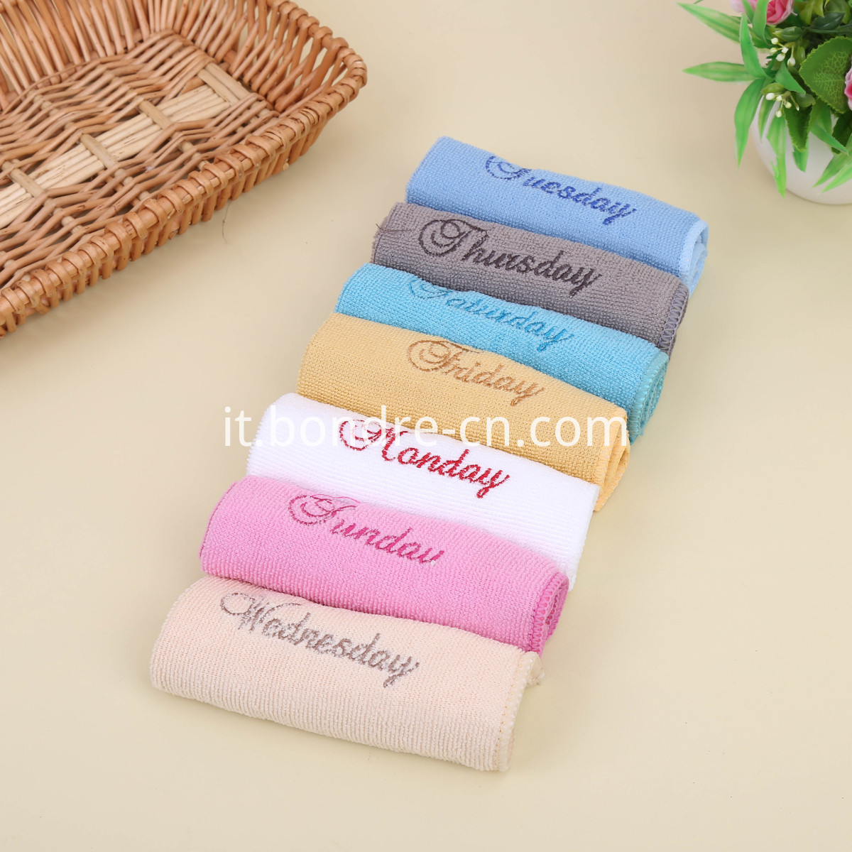 7pcs Week Towels Set (3)