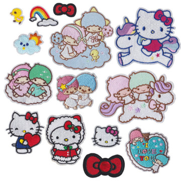 Animal Kittys Cat Eisen auf Stickflecken Applique