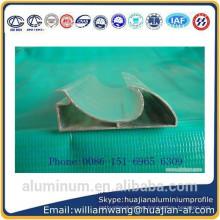 powder coated aluminium profile , anodized black profile,