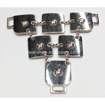 Square Pieces Trim Joined Sandal Chain, Alloy Decorative Chain for Women Sanals