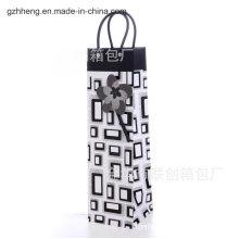 Vender saco de compras de plástico com alça de clipe (saco de PVC / PE)