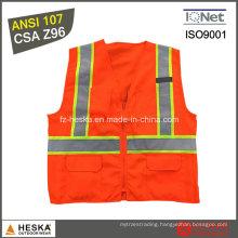 Hi Vis Safety Reflective Tape ANSI107 Workwear Reflective Vest