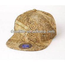 New design gold plate snapback cap hat with great price