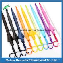 Dome Shape Fancy Colored Plastic PVC Poe Transparent Clear Umbrella