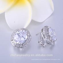 Pendientes de plata esterlina joyería de moda chapada en oro 18k