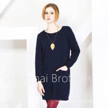 Women′s Round Neck Cashmere Sweater (16brss113)