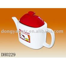 Factory direct wholesale Hello kitty ceramic teapot set