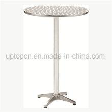 Напольный высокий стол из нержавеющей стали для напольного бистро (СП-AT370)
