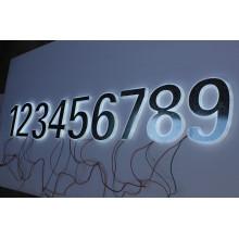 Letras y números de acrílico metal y sólidos en 3D