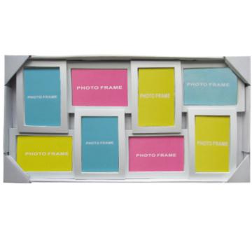 8-Eröffnung weiß Collage Rahmen, 4-4 von 6,4-6 mal 4 Öffnungen