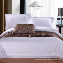 100% algodón satinado Stripe Hotel / casa de ropa de cama conjunto (WS-2016269)