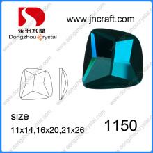Abalorios de cristal Irregular de China proveedor promocional brillante Color esmeralda de Dz-1150 para zapatos