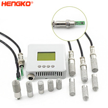 HENGKO waterproof temperature and humidity sensor controller with ( high temp cable ) probe for egg incubator soil and HVAC