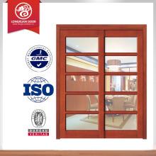 Puerta de madera de alta calidad, diseño deslizante de la puerta del granero