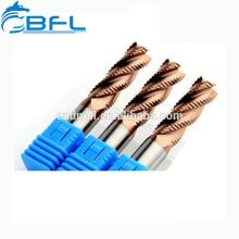 BFL CNC carburo sólido herramientas de corte de molino de extremo rugoso
